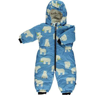 Småfolk Flyverdragt, Winter Blue 6-12 månader - Børnetøj - Småfolk