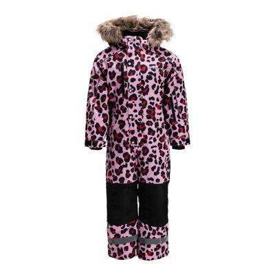 Nordbjørn Arctic Flyverdragt, Red/Pink Leopard 80 - Børnetøj - Nordbjørn