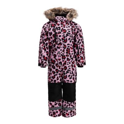 Nordbjørn Arctic Flyverdragt, Red/Pink Leopard 90 - Børnetøj - Nordbjørn