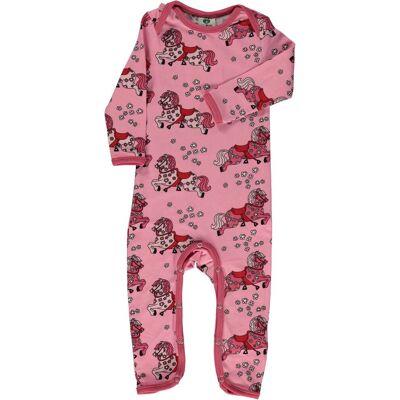 Småfolk Hest Sparkedragt, Sea Pink, 86 - Børnetøj - Småfolk