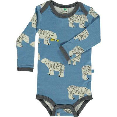 Småfolk Body, Winter Blue 74 cl - Børnetøj - Småfolk