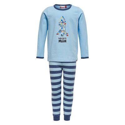 Lego Wear Nis 705 Pyjamas, Light Blue 74 - Børnetøj - Lego