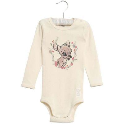 Wheat Bambi Flowers Body, Ivory 68 - Børnetøj - Wheat