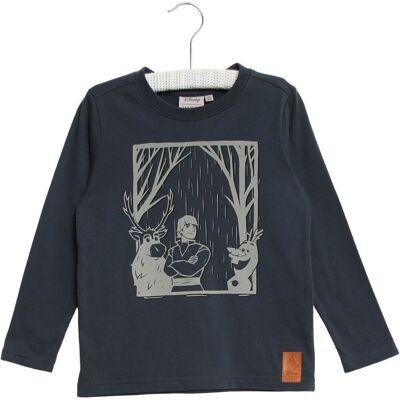 Wheat Frozen Reflective T-Shirt, Midnight Navy, 116 - Børnetøj - Wheat