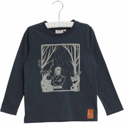 Wheat Frozen Reflective T-Shirt, Midnight Navy, 104 - Børnetøj - Wheat