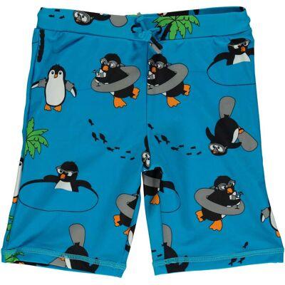 Småfolk Pingvin UV50+ Badebukser, Ocean Blue 3-4år - Børnetøj - Småfolk