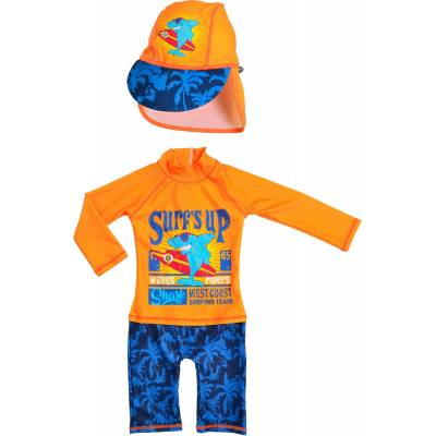 Swimpy UV-Dragt & Hat, Shark Surf 74-80 - Børnetøj - Swimpy