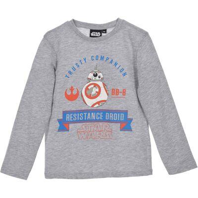 Star Wars Langærmet T-shirt, Grå 10 år - Børnetøj - Star Wars