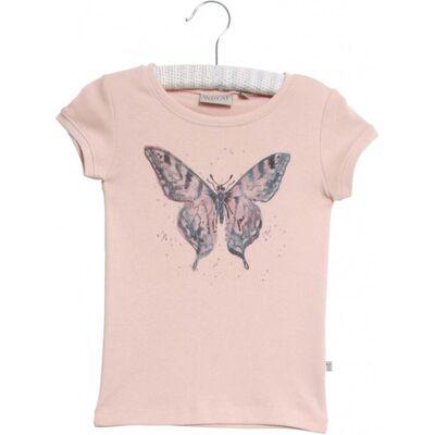Wheat Watercolour Butterfly T-Shirt, Powder 122 - Børnetøj - Wheat