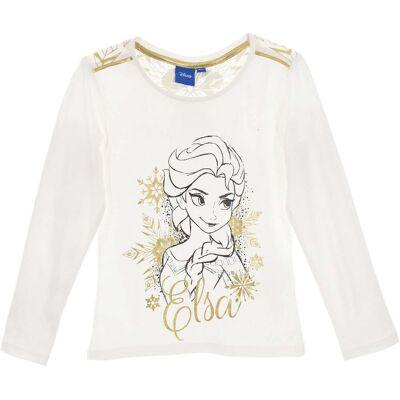 Disney Frozen Langærmet T-Shirt, Off White 5 - Børnetøj - Disney