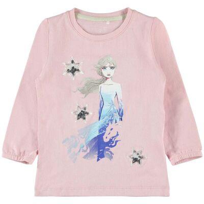 Name it Brielle Trøje Frozen, Silver Pink, 98 - Børnetøj - Name it