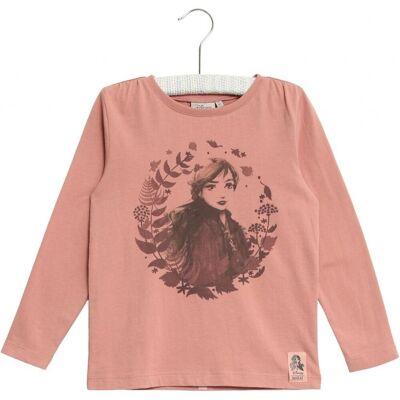 Wheat Frozen Anna T-Shirt, Soft Rouge, 116 - Børnetøj - Wheat