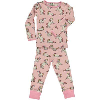 Småfolk Pyjamas, Coral Blush 1-2 år - Børnetøj - Småfolk
