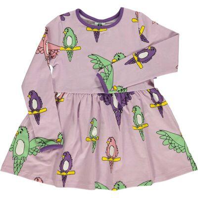 Småfolk Papegøje Kjole, Lavender 4-5år - Børnetøj - Småfolk