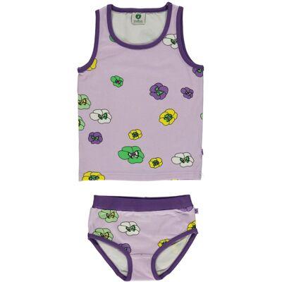 Småfolk Blomster Undertøj, Lavender 1-2år - Børnetøj - Småfolk