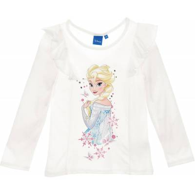 Disney Frozen Langærmet T-Shirt, Off White 8 - Børnetøj - Disney