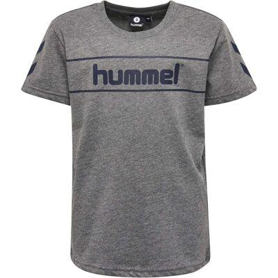 Hummel Jaki T-Shirt, Medium Melange 104 - Børnetøj - Hummel