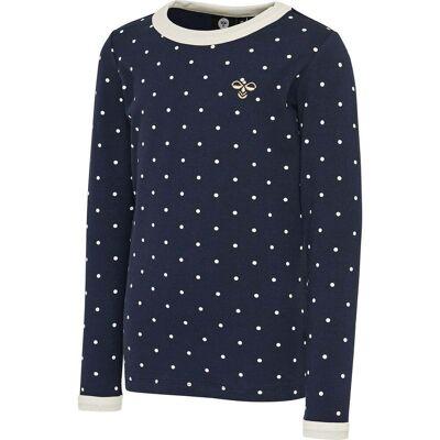 Hummel Tilda T-Shirt, Black Iris, 128 - Børnetøj - Hummel