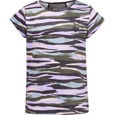 Hummel Mimmi T-Shirt, Lavendel 122 - Børnetøj - Hummel