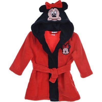 Disney Minnie Mouse Morgenkåbe m. Hjemmesko, Red 9-12mån - Børnetøj - Disney