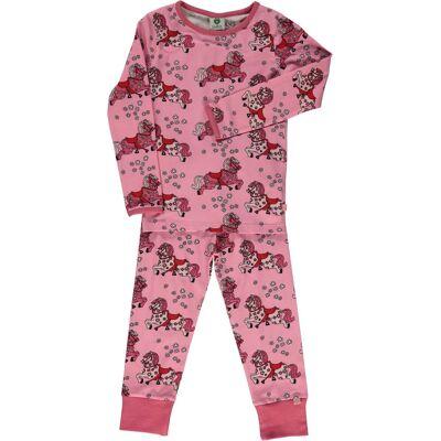 Småfolk Hest Pyjamas, Sea Pink, 3-4 År - Børnetøj - Småfolk