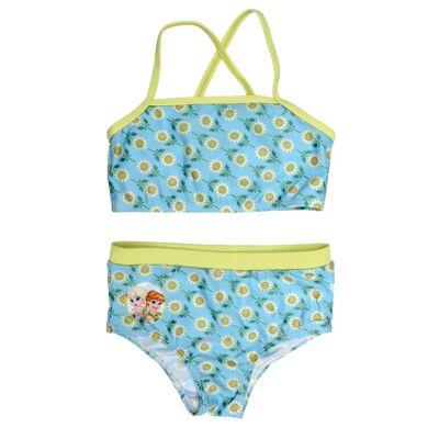 Swimpy Frozen Bikini, Turkis/Grøn/Hvid 110/116 - Børnetøj - Swimpy