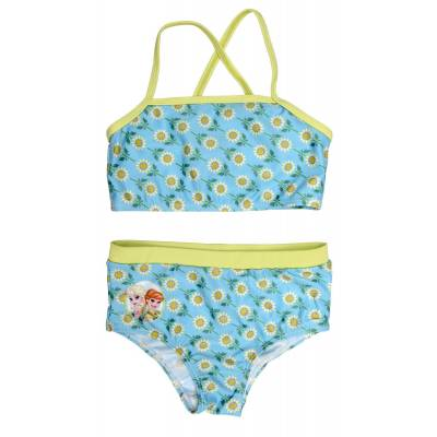 Swimpy Frozen Bikini, Turkis/Grøn/Hvid 122/128 - Børnetøj - Swimpy