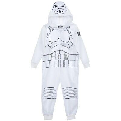 Star Wars Jumpsuit, Hvid 4 år - Børnetøj - Star Wars