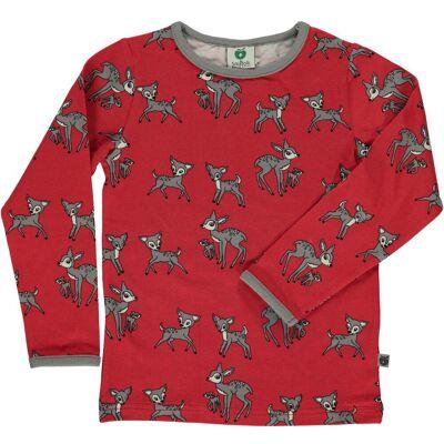Småfolk Langærmet T-Shirt, Dark Red 3-4 år - Børnetøj - Småfolk