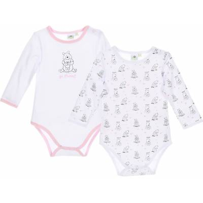 Disney Peter Plys 2-Pack Body, White/Pink 12mån - Børnetøj - Disney