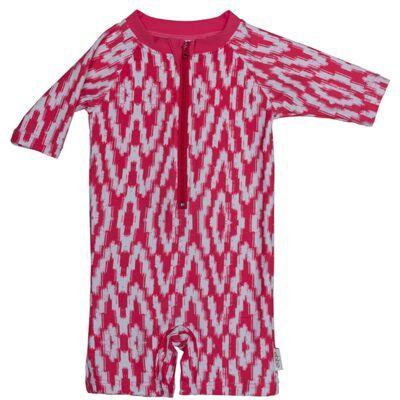 Ebbe Juni UV-dragt, Ocean Pink Ikat str. 110 - Børnetøj - Ebbe