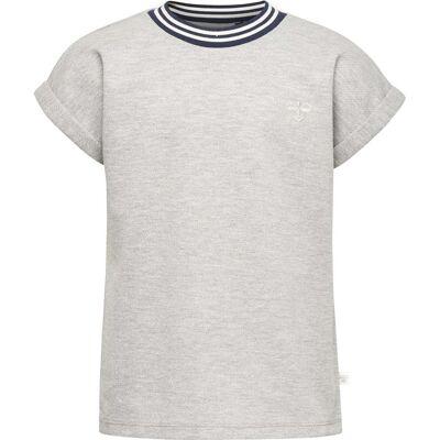 Hummel Inez T-Shirt, Silver Grey 134 - Børnetøj - Hummel
