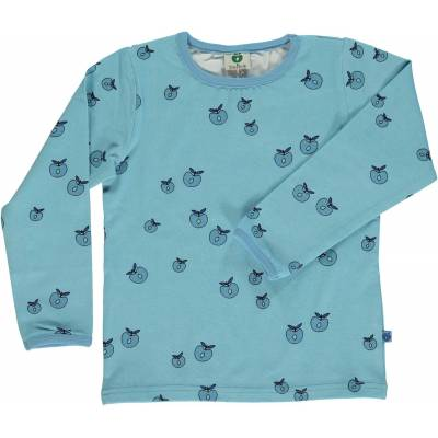 Småfolk T-Shirt Æble, Air Blue 4-5år - Børnetøj - Småfolk