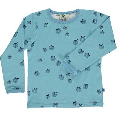 Småfolk T-Shirt Æble, Air Blue 7-8år - Børnetøj - Småfolk