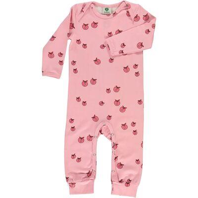 Småfolk Heldragt Æble, Sea Pink 86 - Børnetøj - Småfolk