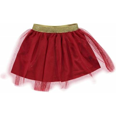 Småfolk Tyldskørt, Dark Red 7-8 år - Børnetøj - Småfolk