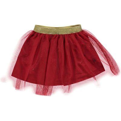 Småfolk Tyldskørt, Dark Red 3-4 år - Børnetøj - Småfolk