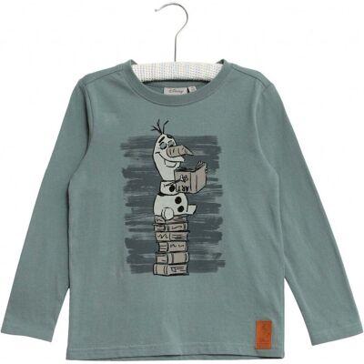 Wheat Frozen Olof Art T-Shirt, Petroleum, 98 - Børnetøj - Wheat