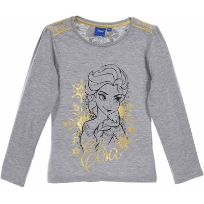 Disney Frozen Langærmet T-Shirt, Grey 8 - Børnetøj - Disney