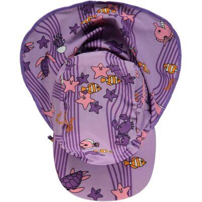 Småfolk Havet UV50+ Solhat, Viola XS - Børnetøj - Småfolk