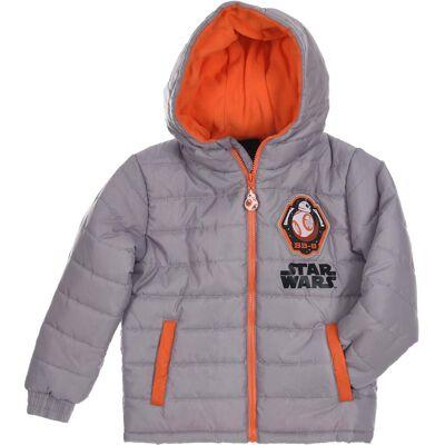 Star Wars Puffer Jakke, Grey 8år - Børnetøj - Star Wars