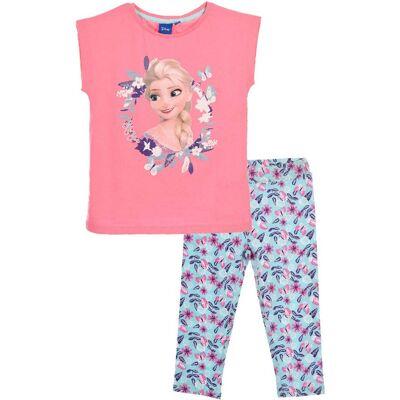 Disney Frozen T-Shirt & Leggings, Lyserød 6 år - Børnetøj - Disney
