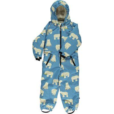 Småfolk Flyverdragt, Winter Blue 4-5 år - Børnetøj - Småfolk