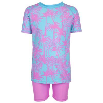 Max Collection Badetøj UV 50+, Pink/Aqua 110-116 - Børnetøj - Max Collection
