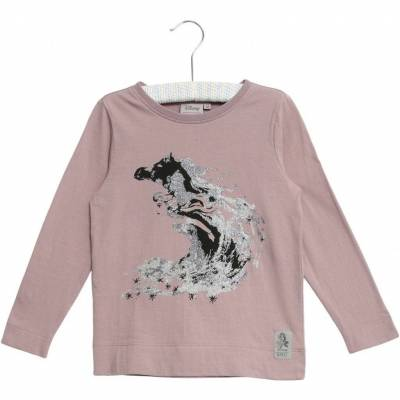 Wheat Frozen T-Shirt Elsa Glitter, Dusty Lavender, 98 - Børnetøj - Wheat