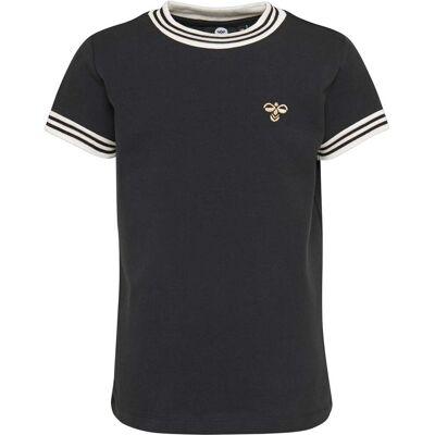 Hummel Victoria T-Shirt, Black 122 - Børnetøj - Hummel