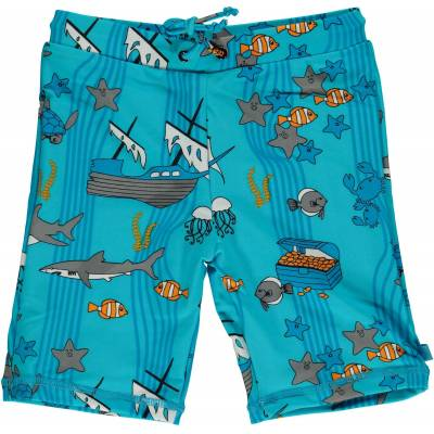Småfolk Havet UV50+ Badebukser, Blue Atoll 1-2år - Børnetøj - Småfolk