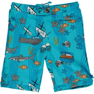 Småfolk Havet UV50+ Badebukser, Blue Atoll 4-5år - Børnetøj - Småfolk