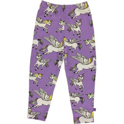 Småfolk Enhjørning Leggings, Purple Heart 1-2år - Børnetøj - Småfolk