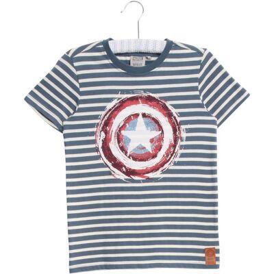 Wheat Disney Captain A T-Shirt, Blå Str128 - Børnetøj - Wheat